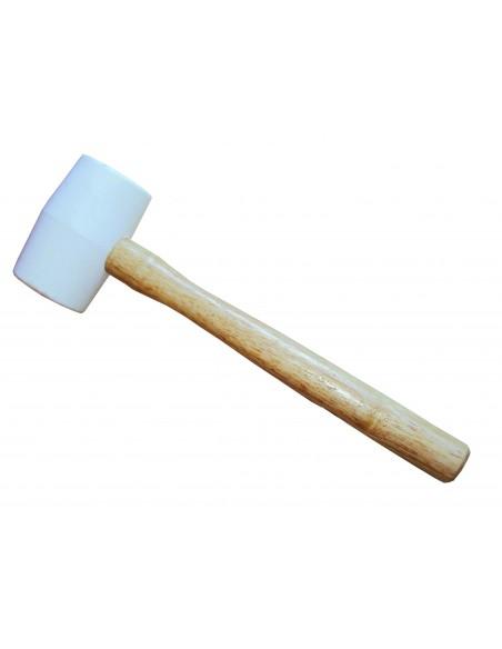 Maillet en caoutchouc blanc Ø 60 mm pour la pose du carrelage