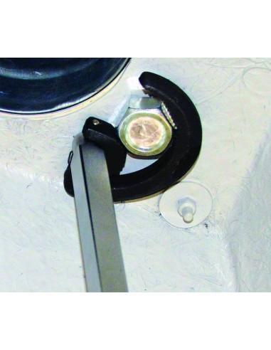 Clé lavabo télescopique pour écrou plat