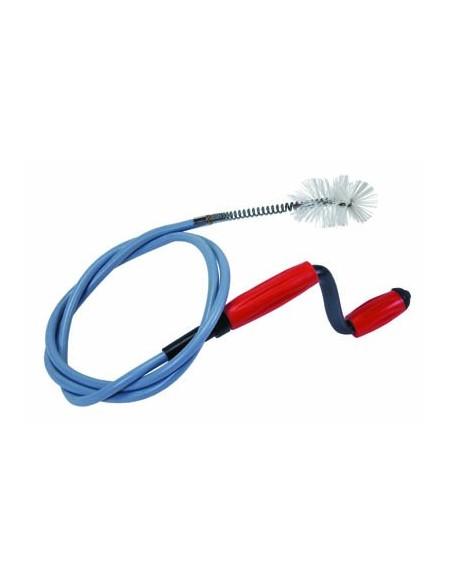 Déboucheur avec câble gainé en vinyle très flexible avec ou sans brosse