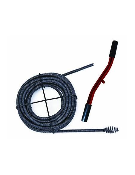 Déboucheur avec câble en acier très flexible et embout ovoïde - Flexigriff