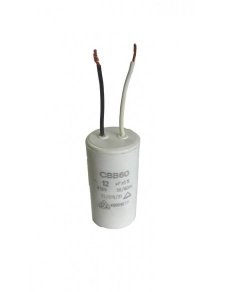 CONDENSATEUR 12 micro farad POUR COUPE-CARREAUX ELECTRIQUES PRCI CARRELEC T180 ET COUPELEC MILLENIUM