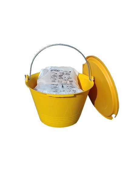 LASH LEVELING SYSTEM BUCKET - 200 CLIPS + 200 WEDGES - REUSABLE BUCKET